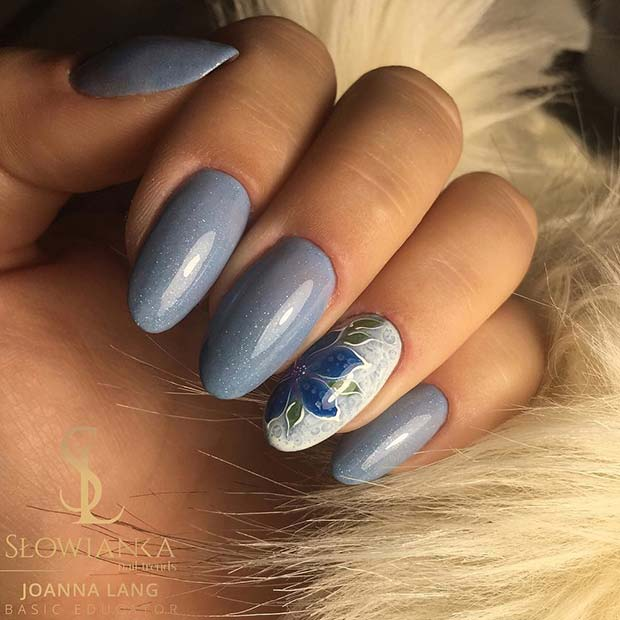 Beautiful-Blue-Nails