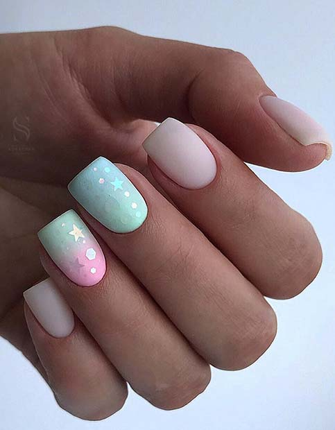 Pastel-Nails-with-Stars