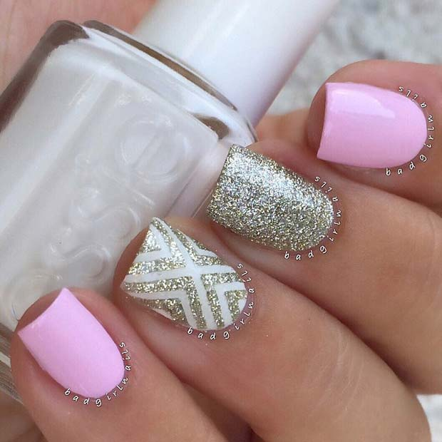 Pink-and-Sparkly-Spring-Nails