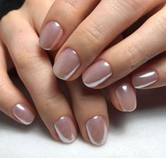 wedding nails for bride natural