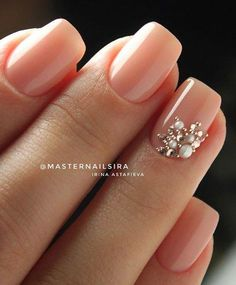 wedding bride nails